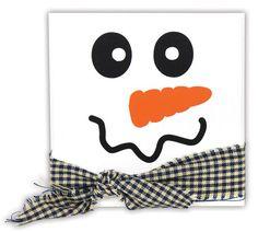 Snowman Face 5x5 Tile