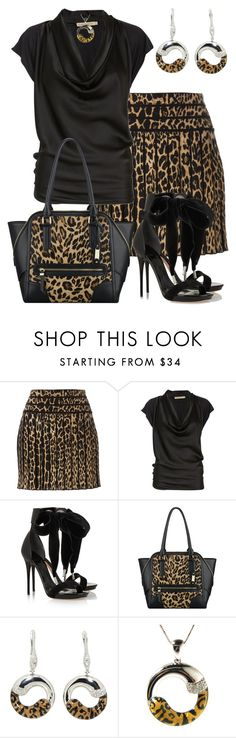 """Animal Print"" by marisol-menahem ❤ liked on Polyvore featuring Roberto Cavalli, Rabens Saloner, Alexander McQueen, Nine West and Pearlz Ocean"