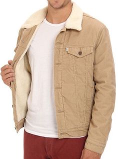 NEW-LEVIS-MENS-CLASSIC-CORDUROY-SHERPA-TRUCKER-BUTTON-UP-JACKET-723360004