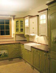 green kitchen...