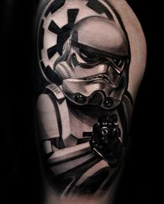 100 Stormtrooper Tattoo Designs For Men - Star Wars Ink Ideas Aztec Tribal Tattoos, Tribal Shoulder Tattoos, Mens Shoulder Tattoo, Stormtrooper Tattoo, Mark Tattoo, Half Sleeve Tattoos For Guys, Body Art Tattoos, Guy Tattoos, Turtle Tattoos