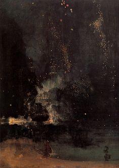 Nocturne in Schwarz und Gold: Die fallende Rakete (James McNeill Whistler)