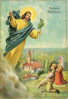 12922 CARTOLINA Tematica Buona Pasqua 1969 E. GM 7653/55 - EUR 2,30 | PicClick IT