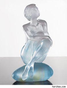 Daum Aphrodite Crystal Sculpture