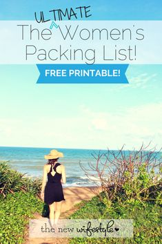 Printable Packing List for a Trip