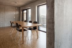 Image 5 of 43 from gallery of Maison des Etudiants / Lacroix Chessex. Photograph by Radek Brunecky Facade, Dining Table, Architecture, Room, Furniture, Gallery, Photograph, Thesis, Home Decor