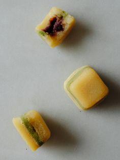 Mini Matcha and Butter Mochi with Azuki Bean