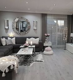 I like it except for the zebra rug #movieroomdecor