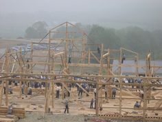 Amish Barn Raising in sugarcreek Ohio, Over 200 men participated.