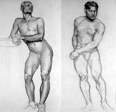 Things of beauty I like to see, Two academic nude studie by Dunbar Dyson Beck...