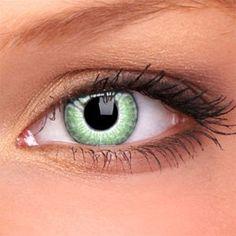 Lentilles de contact couleur 2 tons vert WM201 Lentilles De Contact Couleur,  Yeux Jaunes, 86611778e6b2