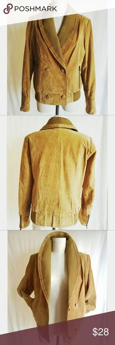 RLZ Tan Suede Jacket Never worn! Medium weight Fully lined Functional pockets RLZ Jackets & Coats Utility Jackets