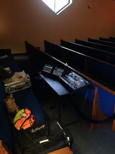 Compact FOH setup at Bethesda Baptist Church in Milwaukee, WI
