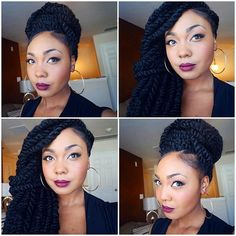 2 Cute Ways to Style your Kinky Twists