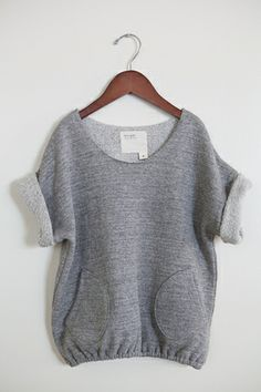 heather grey mushroom tunic - boy+girl store