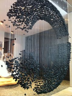 Charcoal sculpture by Bahk Seon Ghi