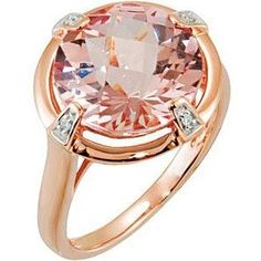 Morganite Ring - Pale pink gold and diamond rings #ring #rings #jewelry