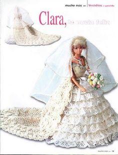 labores de esther. todo para barbie: vestido de novia con velo