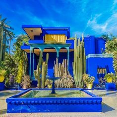 Photo about Le Jardin Majorelle, amazing tropical garden with Arabic style architecture illuminated by sunset light in Marrakech, Morocco. Image of design, color, illuminated - 135208674 Most Beautiful Gardens, Most Beautiful Cities, Travel Picture, Riad, Hidden Beach, Marrakech Morocco, Seaside Towns, City Break, Luxury Travel