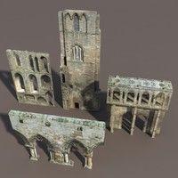 3d model castle ruins modelled