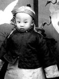Pu Yi as a child. Last Emperor of China.