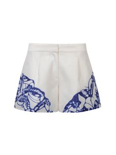 estampado Tang placa Pantalones Tang mariposa cortos china de Pantalones cortos Shanghai de de con Cerámica EvAIxqg