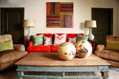 Eclectic Living Design Ideas, Pictures, Remodel and Decor (the color I want for my chairs)