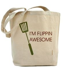 I'm Flipping Awesome tote by Pamela Fugate Designs with free US shipping
