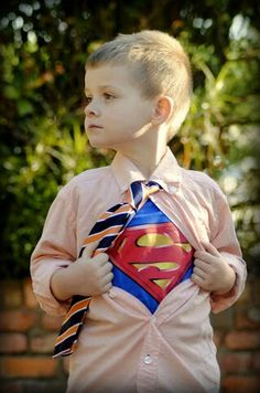 Every little boy needs a superhero photo...