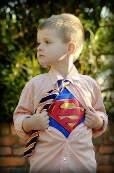 Every little boy needs a superhero photo...
