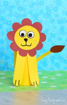 Paper Roll Lion Craft - Toilet Paper Roll Crafts - Easy Peasy and Fun