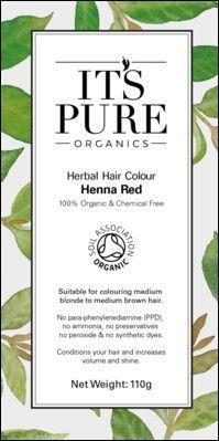 Soil Association Herbal Hair Powder to achieve a natural red colour