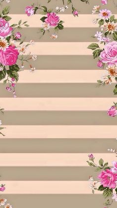Wallpaper with stripes of grey and pink roses Wallpaper For Your Phone, Cellphone Wallpaper, Screen Wallpaper, Cool Wallpaper, Pattern Wallpaper, Iphone Wallpaper, Phone Backgrounds, Wallpaper Backgrounds, Stripped Wallpaper