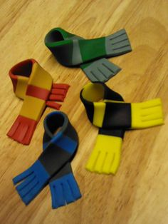 Harry Potter Inspired Scarves, Cupcake or Cookie Topper