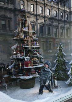 (A través de CASA REINAL) >>>>>  Christmas at Fortnum & Mason,London, pinned by Ton van der Veer