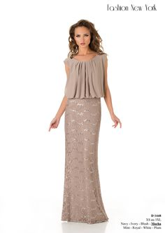 Elegant mother of the bride dress...this would be better ina different  color