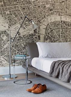 Home Decor :: Map Wall Paper