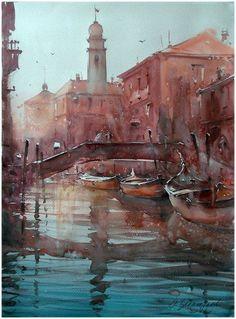 dusan djukaric | Dusan Djukaric Watercolor, 56x76 cm