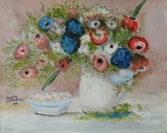 Flowers  -  Berthe Morisot  Impressionism