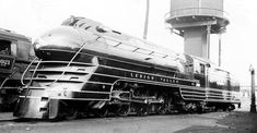 Streamliner Train | Title: Lehigh Valley K5 Streamlined Pacific 2101 Description: