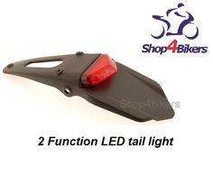 Enduro MX trail RED LED brake stop rear tail tidy light CRF DRZ YZF KTM