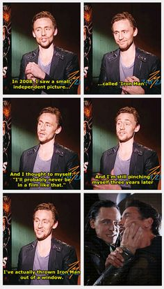 Tom on Iron Man {click for gif}---go Tom!! (Don't worry, I love you too, Tony ;P )