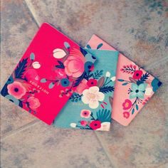 anthropologie - notebooks - pretty illustrated flowers