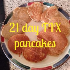 Who doesn't love Pancakes!?!?  Well, when you are following the 21 day FIX the last thing you think you can have are pancakes.  Well, think again! These are 21 day FIX Pancakes!!!  And, they are kid approved too!   1/2 banana 1 YELLOW Quick Oats 2 Eggs (RED) 1 tsp vanilla ext 1 tsp cinnamon 1 […]