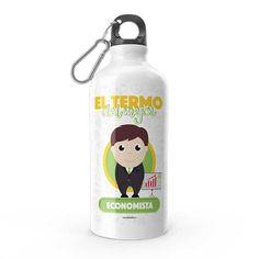 Termo - El termo del mejor economista, encuentra este producto en nuestra tienda online y personalízalo con un nombre. Water Bottle, Drinks, Carton Box, Store, Crates, Drinking, Beverages, Water Bottles, Drink