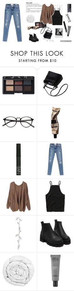 """""""your love's so cold i see my breath"""" by made-of-starlight ❤ liked on Polyvore featuring NARS Cosmetics, Aesop, Frame, Abercrombie & Fitch, Brinkhaus and MAKE UP FOR EVER"""