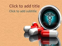 Nice medical ppt background for free download. Has the medical symbol and pills