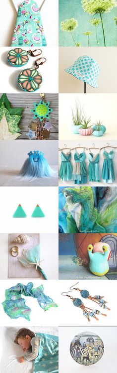 Aqualand by LaurenceCollection on Etsy--Pinned with TreasuryPin.com #shopping #cutegifts