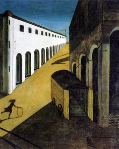 Giorgio de Chirico 'Metaphysical Town Square' series, The Enigma of an Autumn Afternoon, after the revelation he felt in Piazza Santa Croce
