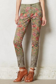 Pilcro Stet Slim Ankle Needlepoint Jeans